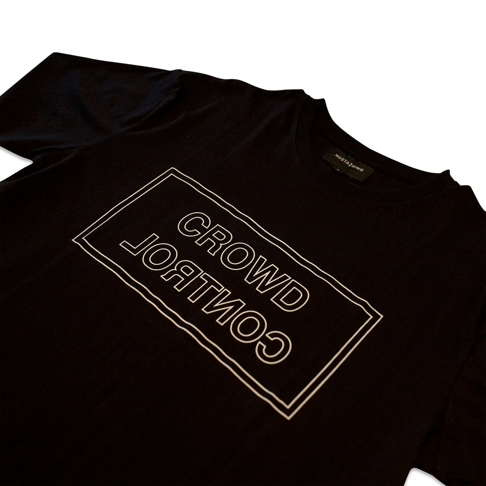 Load image into Gallery viewer, CROWD CONTROL TEE - BLACK