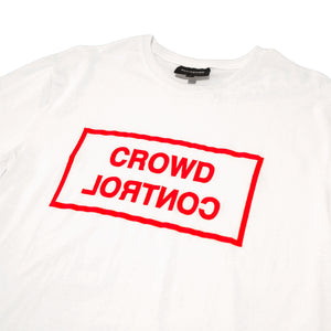 CROWD CONTROL TEE - WHITE