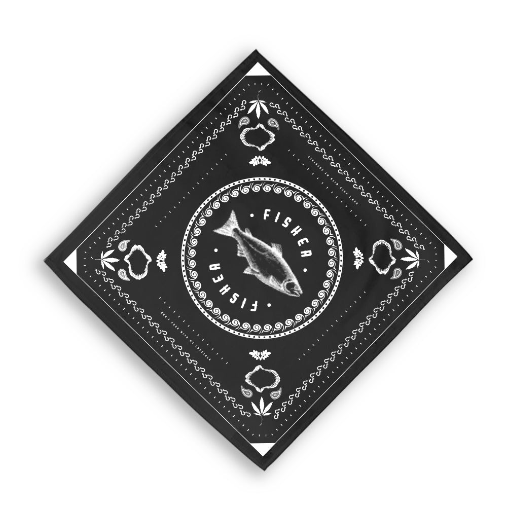 BLACK FISHER BANDANA