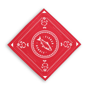 RED FISHER BANDANA
