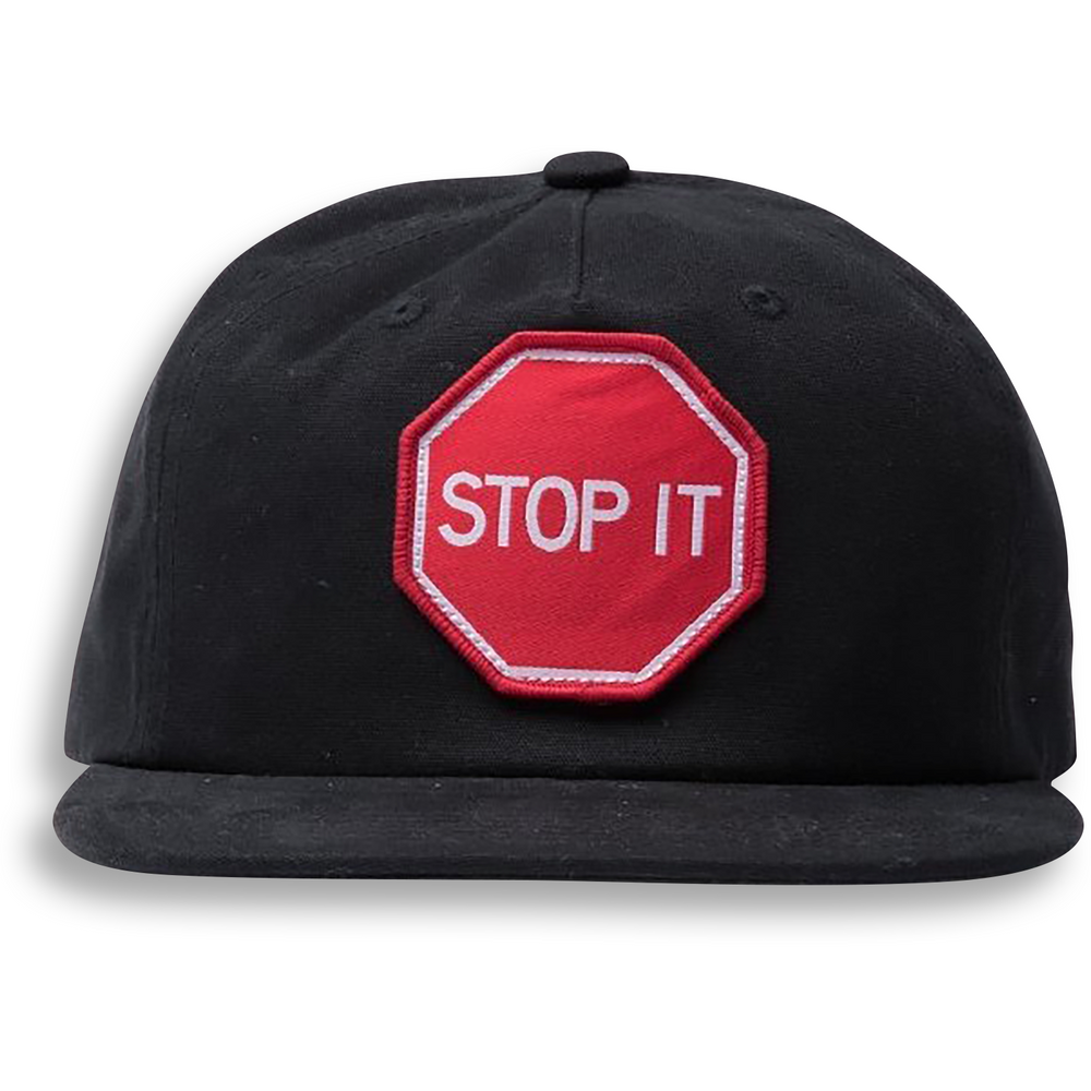 STOP IT CAP - COTTON BLACK