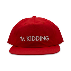 Load image into Gallery viewer, YA KIDDING CAP - NYLON RED