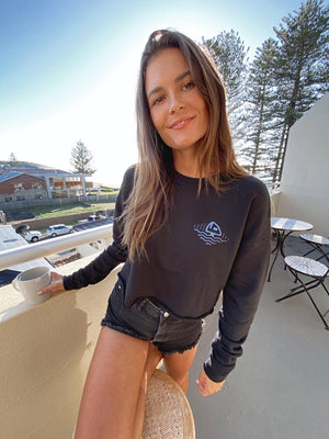 DOWN UNDER CROP CREWNECK