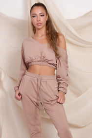 V Neck Crop & Joggers set