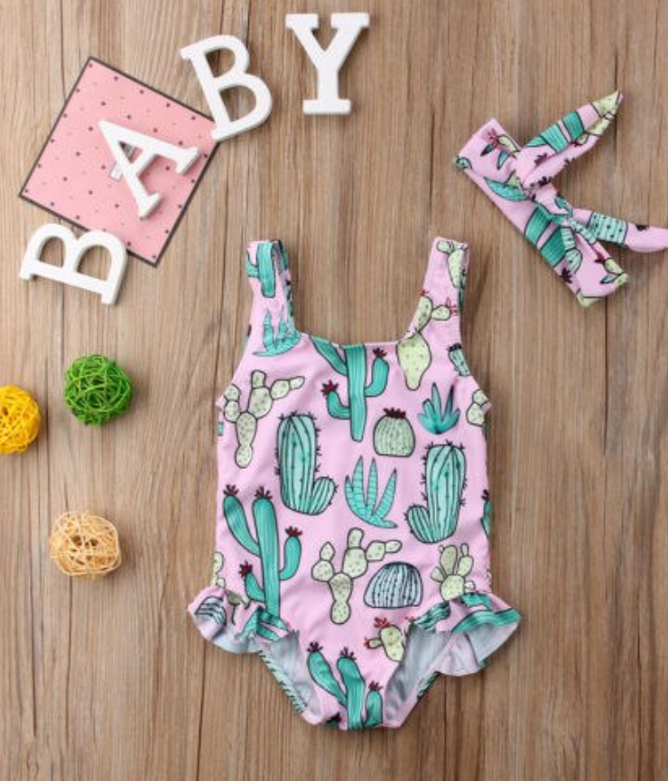 Baby Girl Cactus print Swimsuit