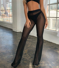 Mesh Bikini Cover up high waist trousers