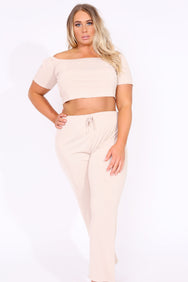 Plus Off shoulder Lounge Set