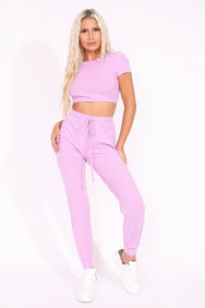 LILAC BACKLESS LOUNGE SUIT