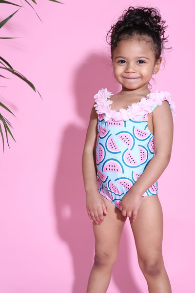 Baby Be Watermelon Ruffle swimsuit