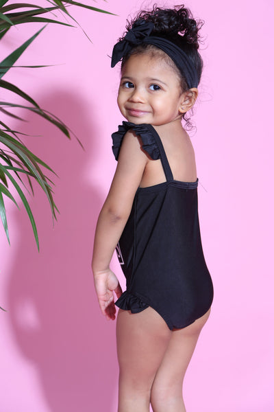 Baby Girl Miss Sass swimsuit & headband