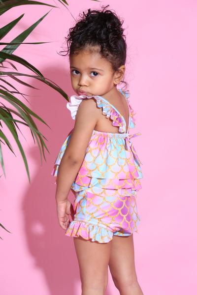 Baby Girl Ruffle Mermaid two piece