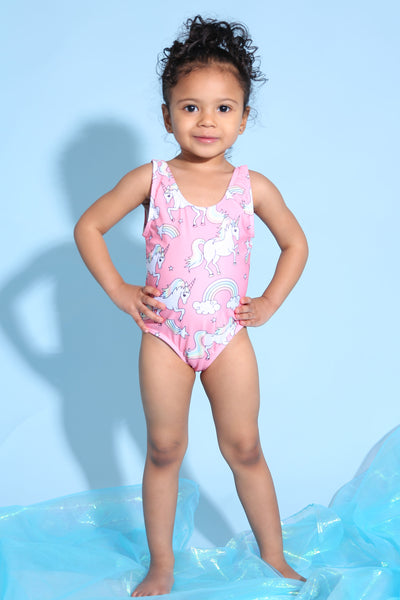 Baby Girl Unicorn Swimsuit