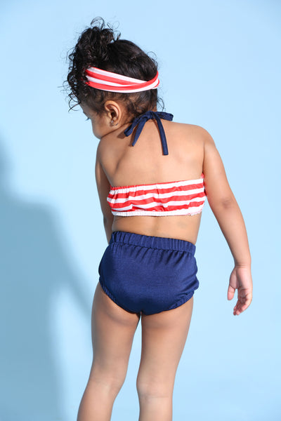 Baby Girl Striped Swimsuit