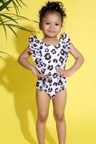 Baby Girl Leopard Print Swimsuit