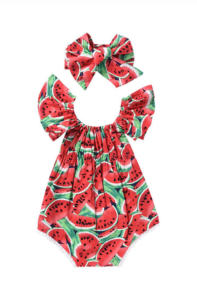 Copy of Baby Be Red Watermelon Romper