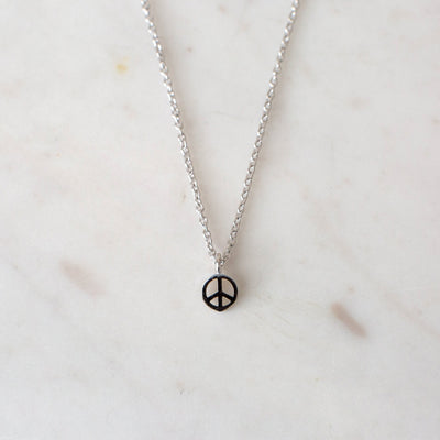 Peace Necklace Sterling Silver