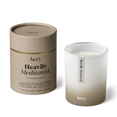 Aery Living, Aromatherapy Soy Candle, Heavily Meditated (200g)