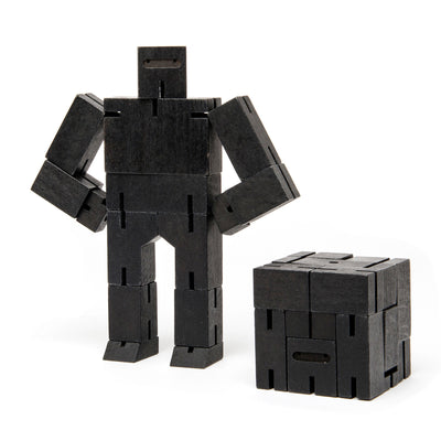 Areaware Cubebot Small Robot Toy - Black