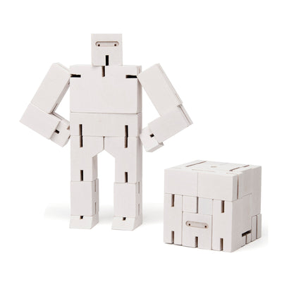 Areaware Cubebot Small Robot Toy - White