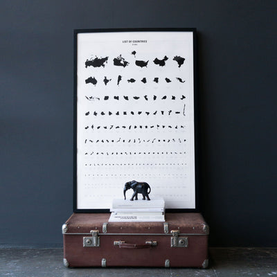 Bold Tuesday List of Countries Travel Print