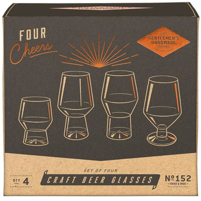 Craft Beer Glasses - Set of 4