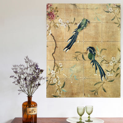 IXXI Chinese Wallpaper No 5 - Gold Wall Art 100 x 140cm