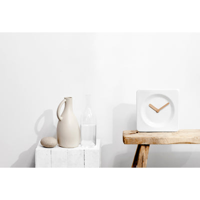 LEFF Tile 25 Ceramic Clock - White