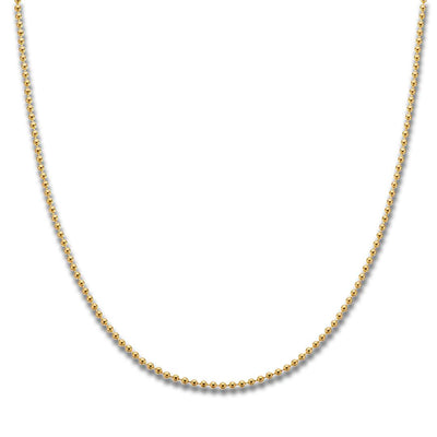 Palas Gold Plated Ball Chain (40cm)