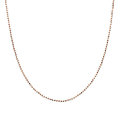 Palas Rose Gold Plated Ball Chain Necklace (50cm)