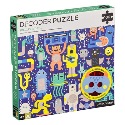 Petit Collage Monster Jam 100pc Decoder Puzzle