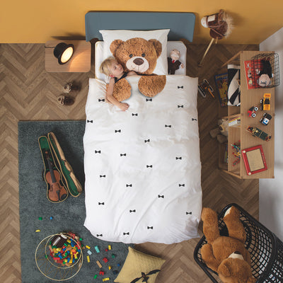 Snurk Quilt Cover Set - Single - Teddy