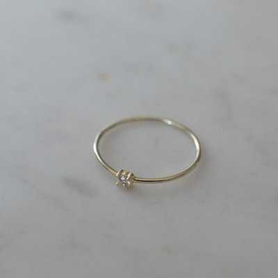 Sophie Mini Rock Ring Clear Gold M