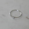 SOPHIE Mini Rock Ring Clear Silver M
