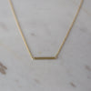 Mini Bar Necklace 14kt Gold Plated