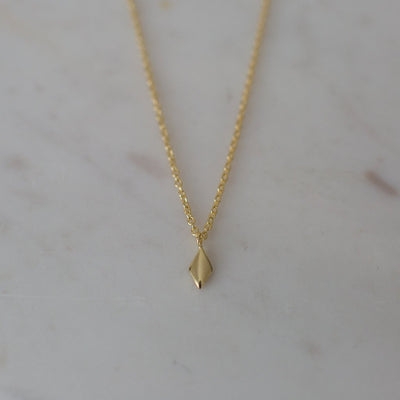 Diamond Necklace 14kt Gold Plated