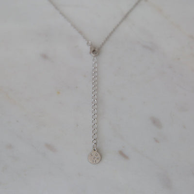 Mini Bar Necklace Sterling Silver