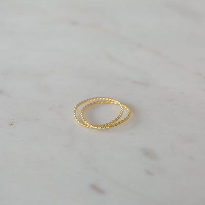 You and Me Ring 14kt Gold Plated