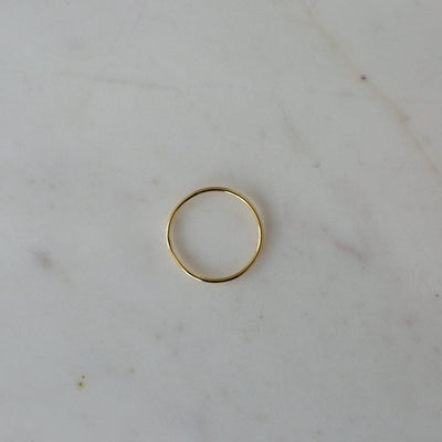 Little Smooth Ring 14kt Gold Plated