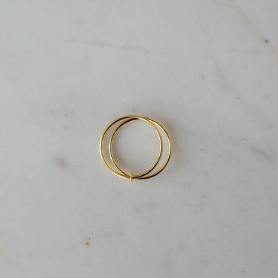 Us Two Ring 14kt Gold Plated