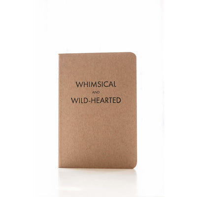 A6 Letterpress Notebook, Whimsical + Wild Hearted
