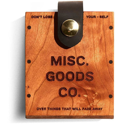 Misc Goods Co. Hard Card Case with a Pack of Cards.
