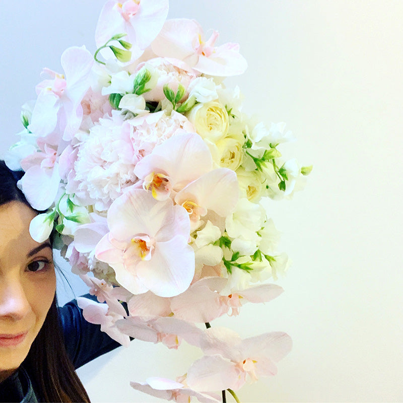 Kate Hill holding bridal bouquet wedding flowers in Melbourne