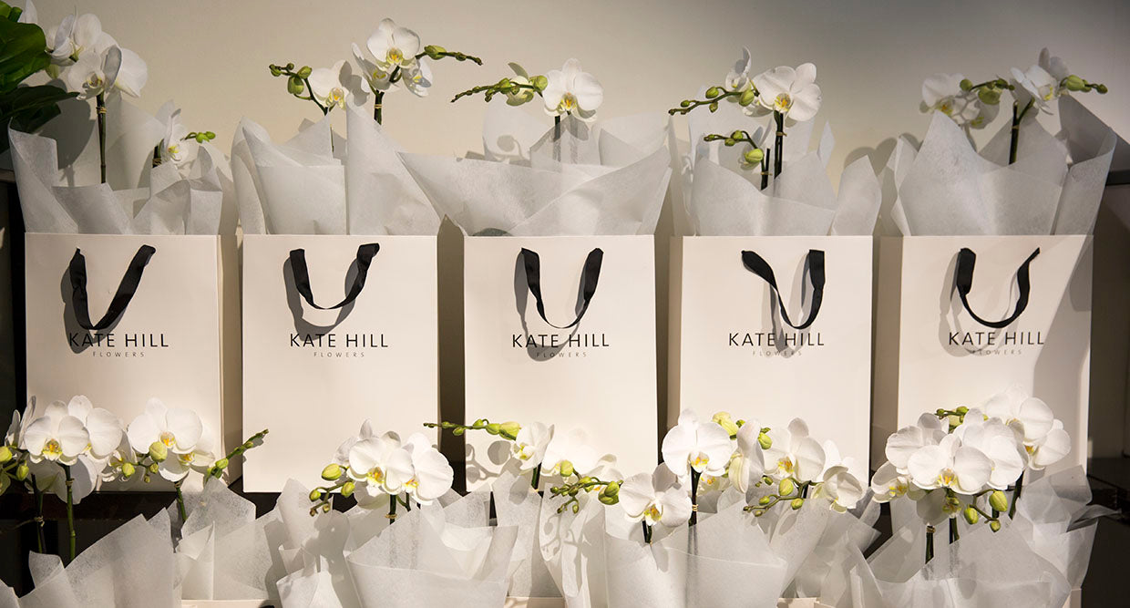Photos of packaged flowers at a high end Melbourne florist
