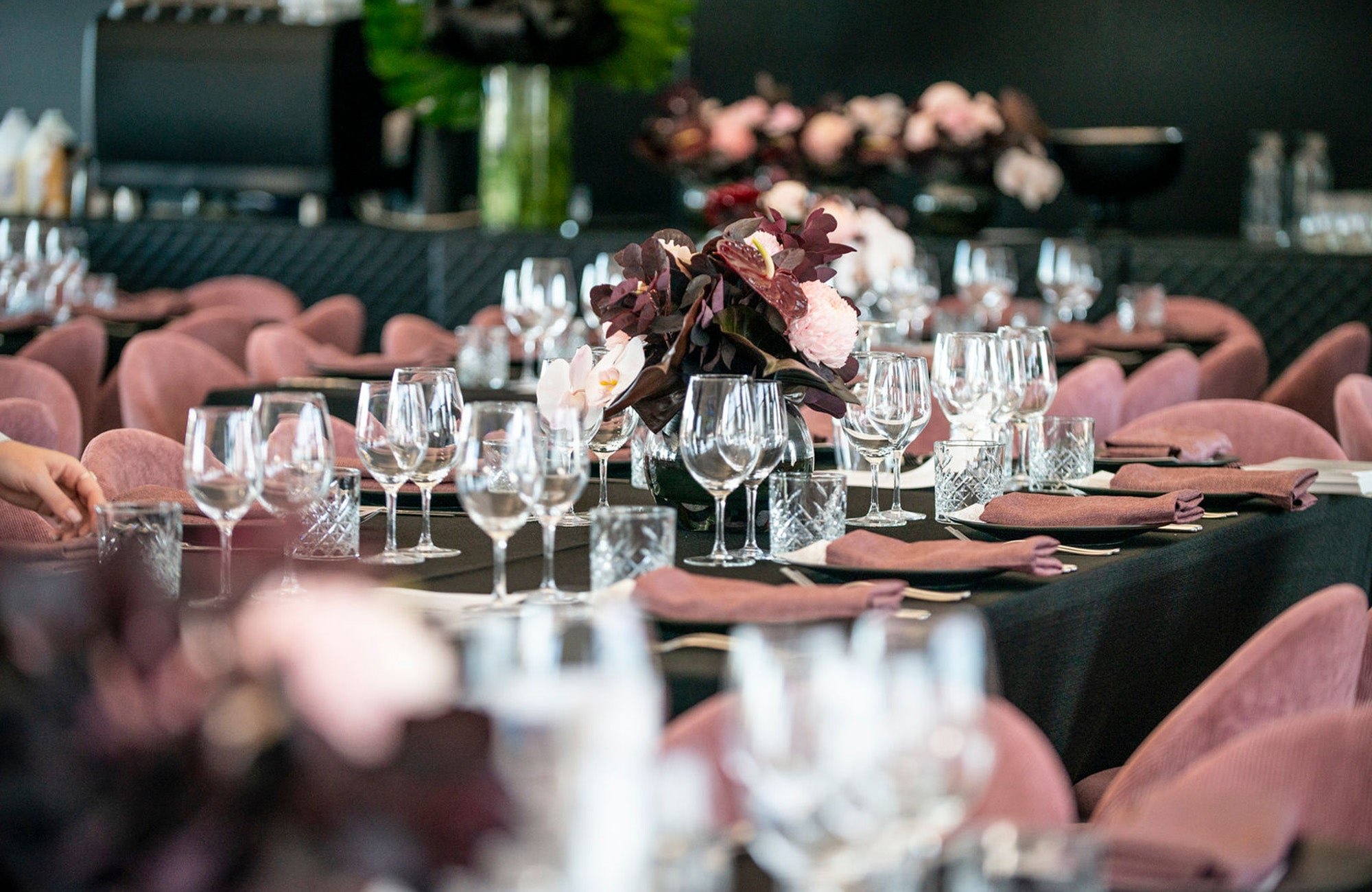 Table settings at Porsche women with drive event