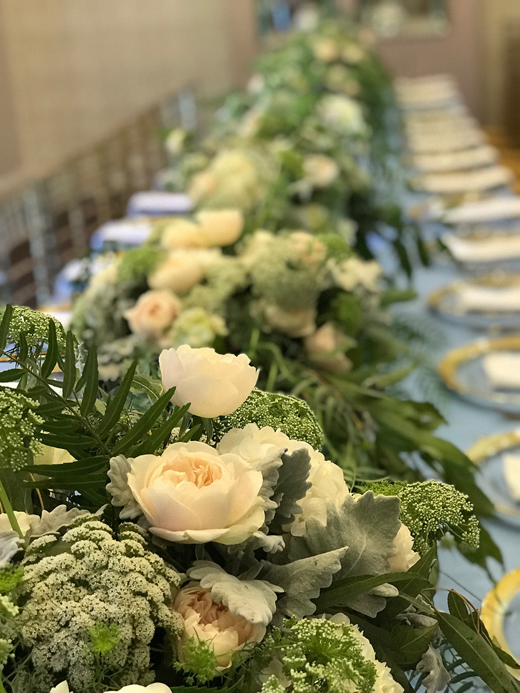 Wedding Flowers Table Setting