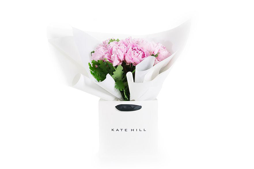Zoey Flower Bouquet by Kate Hill Flowers featuring peonies