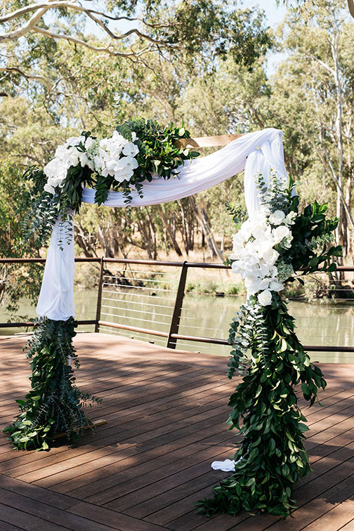 Floral Archway Wedding Flowers