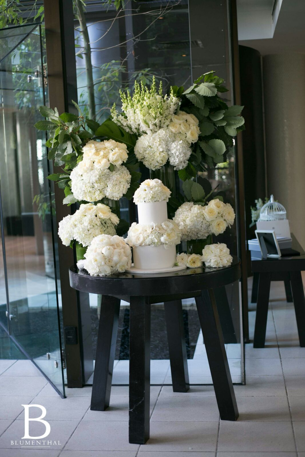 Wedding Flowers at Entrance of Reception Venue