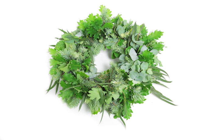 Fresh Green Foliage Christmas Wreath