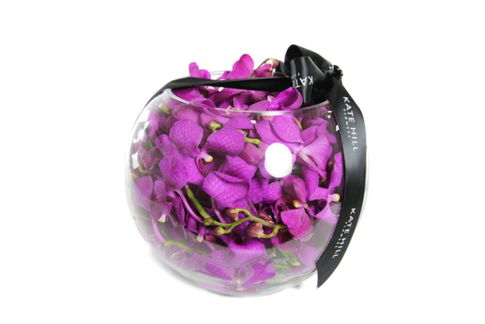 Submerged Orchid Ball Vase Design
